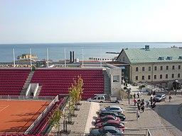 Båstad Tennisstadion og Hotel Skansen-august 2009.