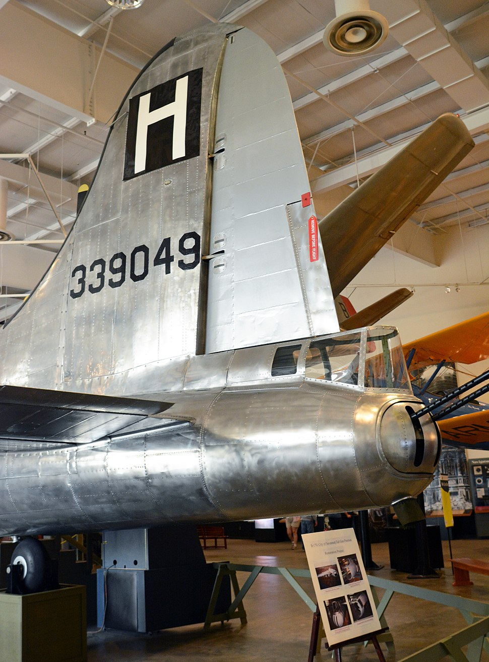 B-17 tail at Mighty Eighth Air Force Museum, Pooler, GA, US