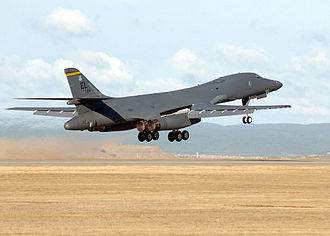 319th Air Base Wing - B-1 Lancer taking off