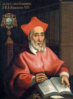Caesar Baronius Italian cardinal and ecclesiastical historian of the Roman Catholic Church (1538-1607)