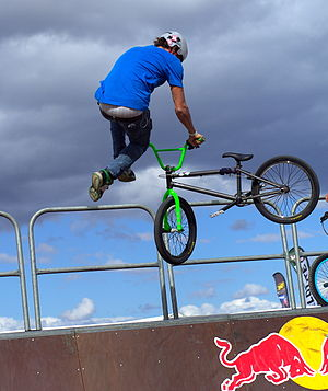 Tailwhip - A tailwhip performed in a half-pipe.