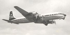BOAC DC-7C Taking-off from Manchester.jpg
