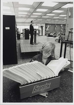 Brooklyn Park Library - Brooklyn Park Library interior, 1976.
