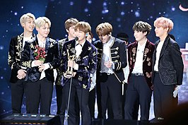 BTS tijdens de Golden Disc Awards in 2017.
