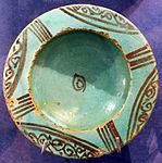 Bacino ceramico da facciata del duomo di s. miniato, nord-africa, 1190 ca. 13.JPG