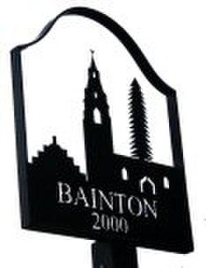 Bainton, Cambridgeshire - Signpost in Bainton