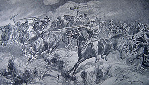 Battle of Bakenlaagte - Image: Bakenlaagte boer charge