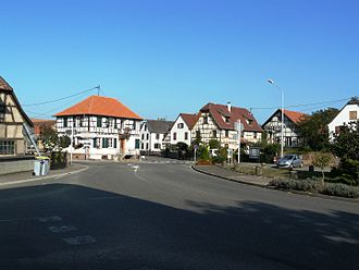 Baldenheim - The village and some half-timbered houses