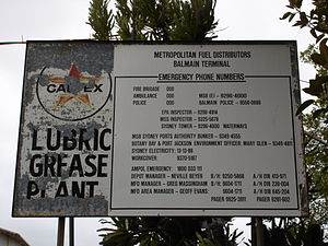 Ballast Point (New South Wales) - Original Ballast Point sign from Caltex site
