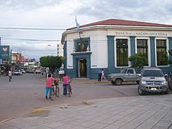 Banco Nación and main road in Sáenz Peña.jpg