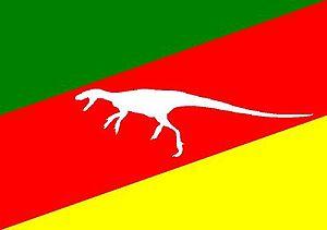 Santa Maria Formation - Image: Bandeira do Geoparque Paleorrota