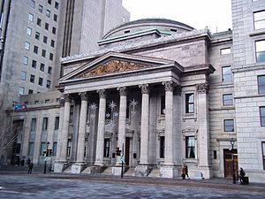 Bank of Montreal Head Office, Montreal - Image: Banque de Montreal Place d Armes Montreal 02