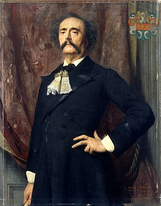 Jules Barbey d'Aurevilly - Portrait by Émile Lévy, 1882.