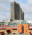 Barbican towers seen across the rooftops from City Road, London - geograph.org.uk - 1408510.jpg