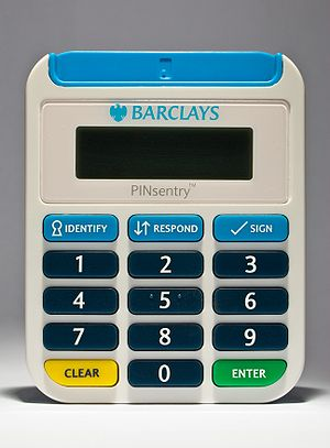 Image of a Barclays PINsentry Dynamic Passcode...