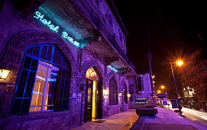 Baron Hotel - Image: Baron hotel at night