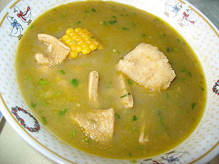 Sancocho Traditional soup in several Latin American cuisines