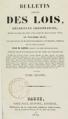 Barrot Odilon - Bulletin annoté des lois décrets, volume 2, 1834, page de titre.png