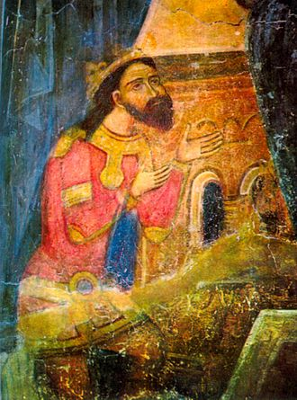 Basarab I of Wallachia - Basarab I (fresco in Argeş)