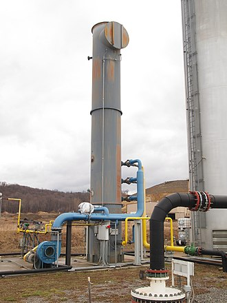 Thermal oxidizer - Direct-fired thermal oxidizer using landfill gas as fuel