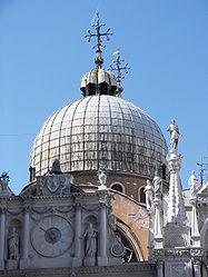 Basilica di San Marco dome from Doge's Palace courtyard.jpg