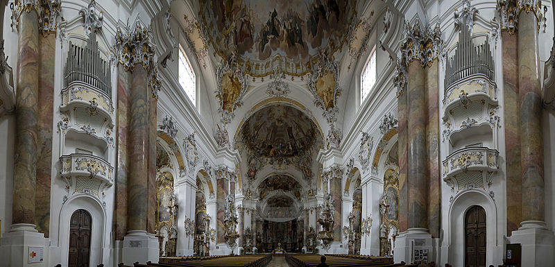 File: Basilica Ottobeuren - View from the nave to Chorraum.jpg