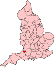 Bath and North East Somerset in England.png