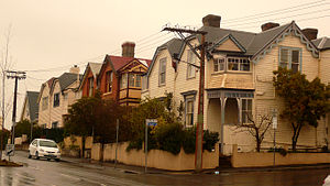 Battery Point, Tasmania - Weatherboard houses in Battery Point