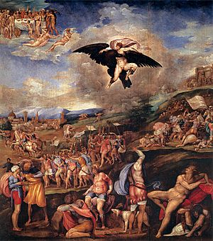 Battle of Montemurlo - Image: Battista franco, la battaglia di montemurlo e il ratto di Ganimede