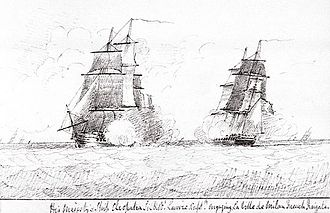 HMS Milan (1805) - The chase of Ville de Milan by HMS ''Cleopatra''