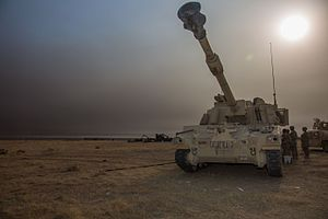Battle of Mosul - U.S. Army M109A6 Paladin at Q-West.jpg
