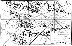 Early mapping of Long Island (Dom Pernety, 1769)