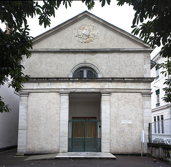 The Protestant Church of Bayonne is remarkable for its proportions and simplicity.