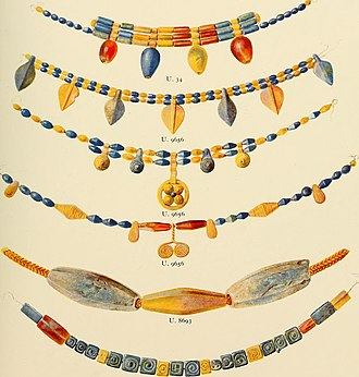 M. Louise Baker - Beads (Chapter 18) Ur excavations (1900), drawn by M. Louise Baker