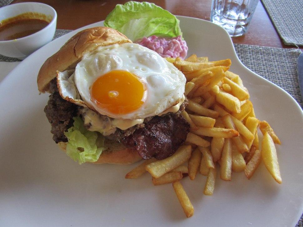 Beef Burger In Kota Kinabalu, Malaysia