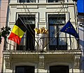 Belgian and EU Flags in Harmony - panoramio.jpg
