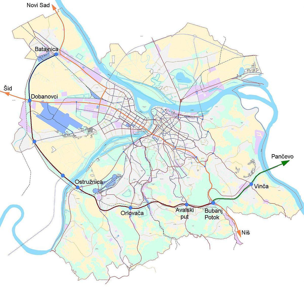 groblje orlovaca beograd mapa Obilaznica Beograd — Википедија, слободна енциклопедија groblje orlovaca beograd mapa