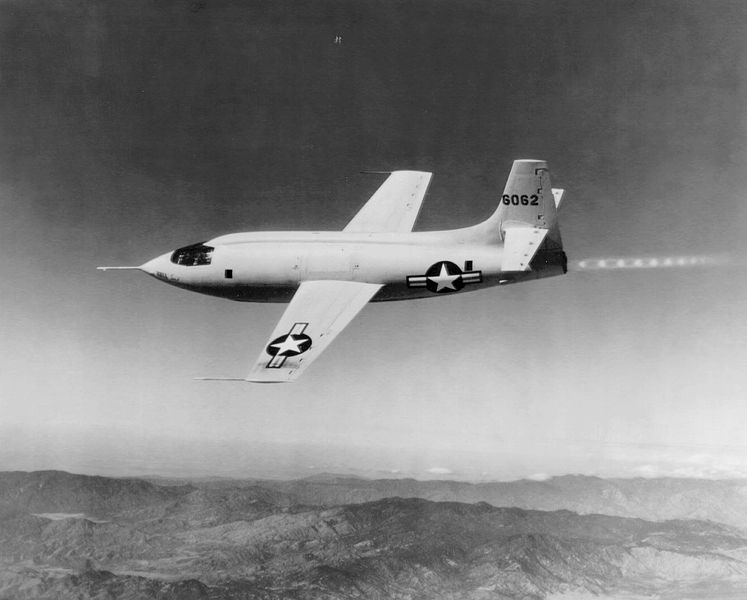 ファイル:Bell X-1 in flight.jpg
