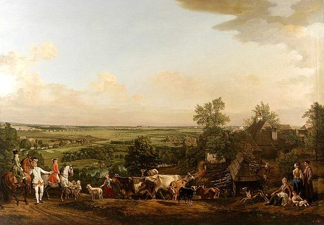 """""""Prairie de Wilanow"""" par Bellotto (1775)."""