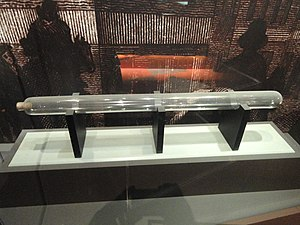 "Franklin's electrostatic machine - Collinson gift of ""glass tube"" used for producing static electricity"
