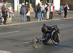 Berlin Marathon - Wheelchair athlete in 2009