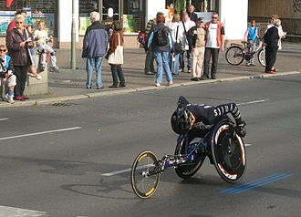 Berlin Marathon - Wheelchair athlete in 2009