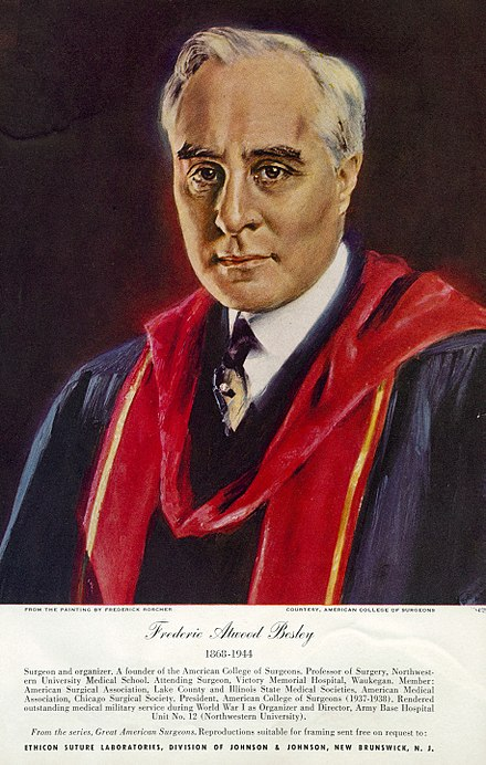 Frederic Atwood Besley was the founder of the ACS. Besley, Frederic Atwood (1868-1944) CIPB2056.jpg
