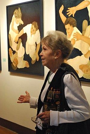 Helen Bickham - Helen Bickham at opening in Valle de Bravo, Mexico