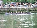 Bilbao (Vizcaya)-Bandera de Bilbao de traineras 2012-2-Pasajes de San Pedro.jpg