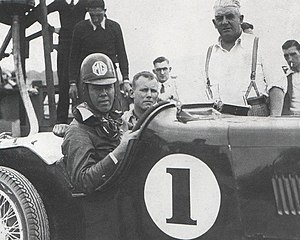 Bill Thompson (racing driver) - Thompson at the wheel of an MG K3 Magnette at the 1935 Australian Grand Prix