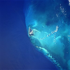 Bimini - Bimini Island from space, June 1998