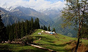 Outdoor recreation - Camping in the Kullu District of Himachal Pradesh, India