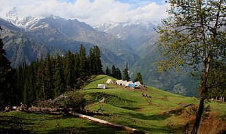 Camping - Camping in the Kullu district of Himachal Pradesh, India.