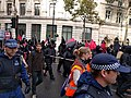 Black bloc, Student march for free tuition 8, Trafalgar Square, London, UK.jpg